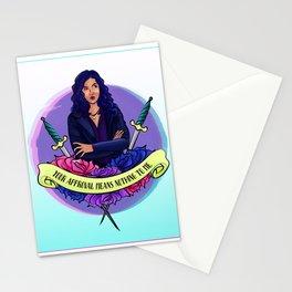 Rosa Diaz's Desk Full of Swords Stationery Cards