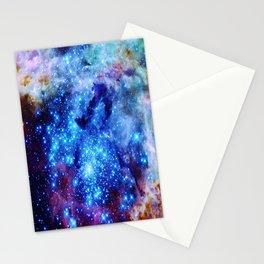 galaxy blue sparkle Stationery Cards