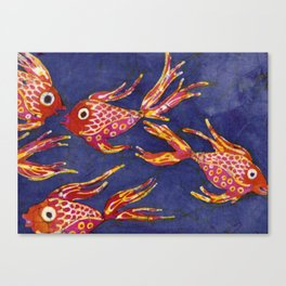 Goldfish batik Canvas Print