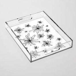 Energy Flowers Acrylic Tray