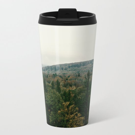 Early autumn, colorful forest and mountains Metal Travel Mug