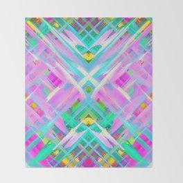 Colorful digital art splashing G473 Throw Blanket