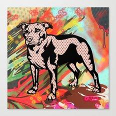 Super dog pop art Canvas Print