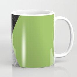 Black and White Marbles and Pantone Greenery Color Coffee Mug