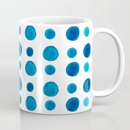 Watercolor blue dots Coffee Mug