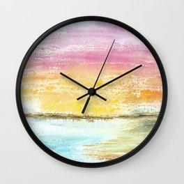 Magic Sunset Watercolor Art Wall Clock