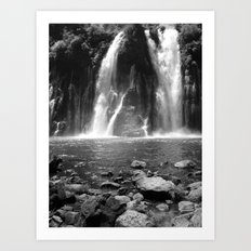 Places in Black & White: Burney Falls 17 Art Print