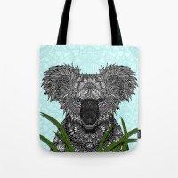 koala Tote Bags featuring Koala by ArtLovePassion