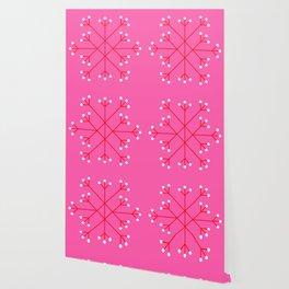 Mod Snowflake Pink Wallpaper