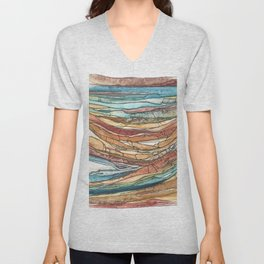 Abstract Sediment Unisex V-Neck