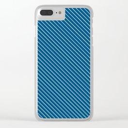 Snorkel Blue Stripe Clear iPhone Case