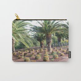 Tropical landcsape with cactus and Palm trees Carry-All Pouch