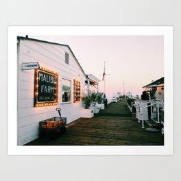 Malibu at Sunset Art Print