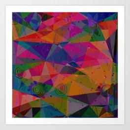 Geometry and flower Art Print