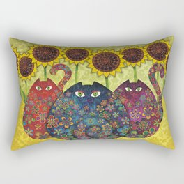 Cats & Sunflowers Rectangular Pillow