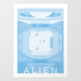 Airlock - Alien (1979) Art Print