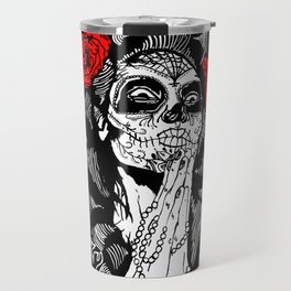Girl With Sugar Skull, Day of the Dead Travel Mug