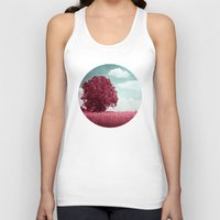 moulin rouge Tank Tops featuring ARBRE ROUGE by INA FineArt