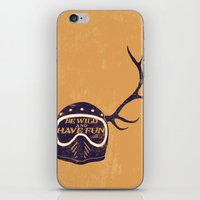 into the wild iPhone & iPod Skins featuring wild by The Junkers