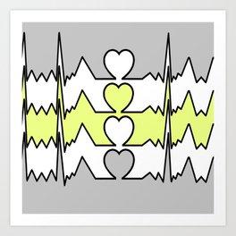 BIG HEART TART Art Print