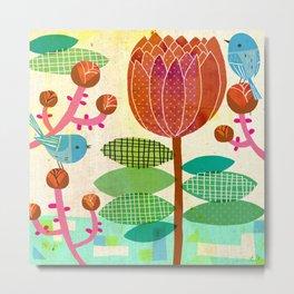 Flora and Fauna - Bluebird Metal Print