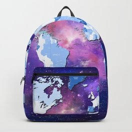 world map political galaxy 2 Backpack