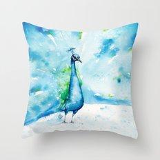 Peacocking Around Throw Pillow