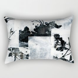 Monochrome Tiles Rectangular Pillow