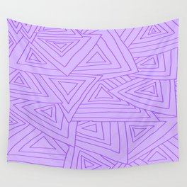 Purple Triangles Wall Tapestry