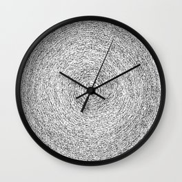 Full Moon Asemic Calligraphy for home decoration Wall Clock