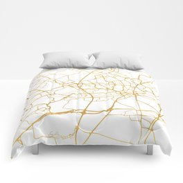 FRANKFURT GERMANY CITY STREET MAP ART Comforters