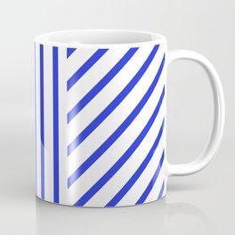 Lined Blue Coffee Mug