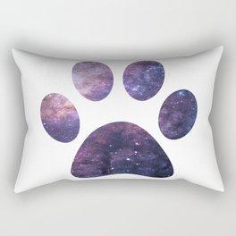 Purple Paw Galaxy Rectangular Pillow