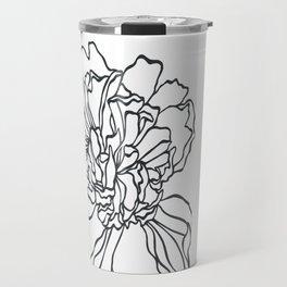 Paper-cut Peony Travel Mug