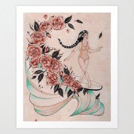 Cross Step Dancer Art Print