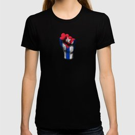 Cuban Flag on a Raised Clenched Fist T-shirt