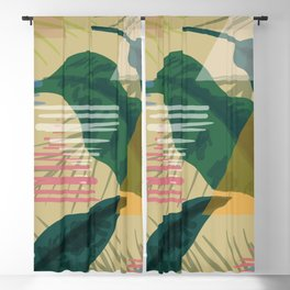 Abstact Nature Blackout Curtain