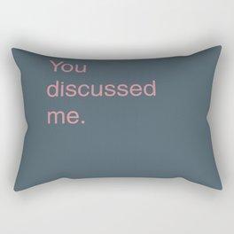 Discussed Rectangular Pillow