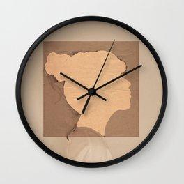 Paper portrait Wall Clock
