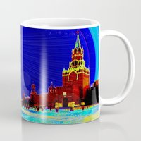 moscow Mugs featuring Moscow by JT Digital Art