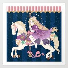 Carousel: New dream Art Print