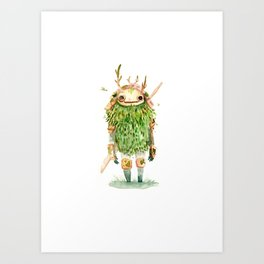 Green Samurai Art Print