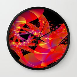 Firecracker Red Wall Clock