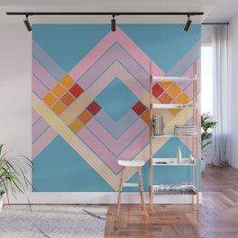 Colorful Summer Sun Retro Style Stripes Epona Wall Mural