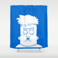 fat Shower Curtains featuring Fat Kid by Jonas Pelzer