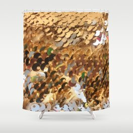 Shiny. Fashion Textures Shower Curtain