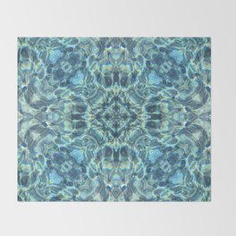 Pooled reflections Throw Blanket