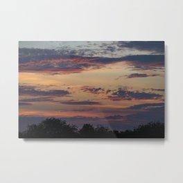 Vibrant Clouds Metal Print