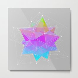The Dots Will Somehow Connect (Geometric Star) Metal Print