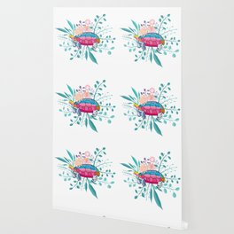 Happy Spring Tortoise Wallpaper